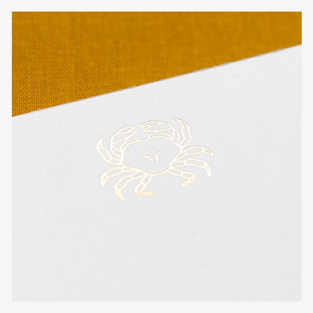 Ink and Volt Crab Faceted Foil Notepad detail