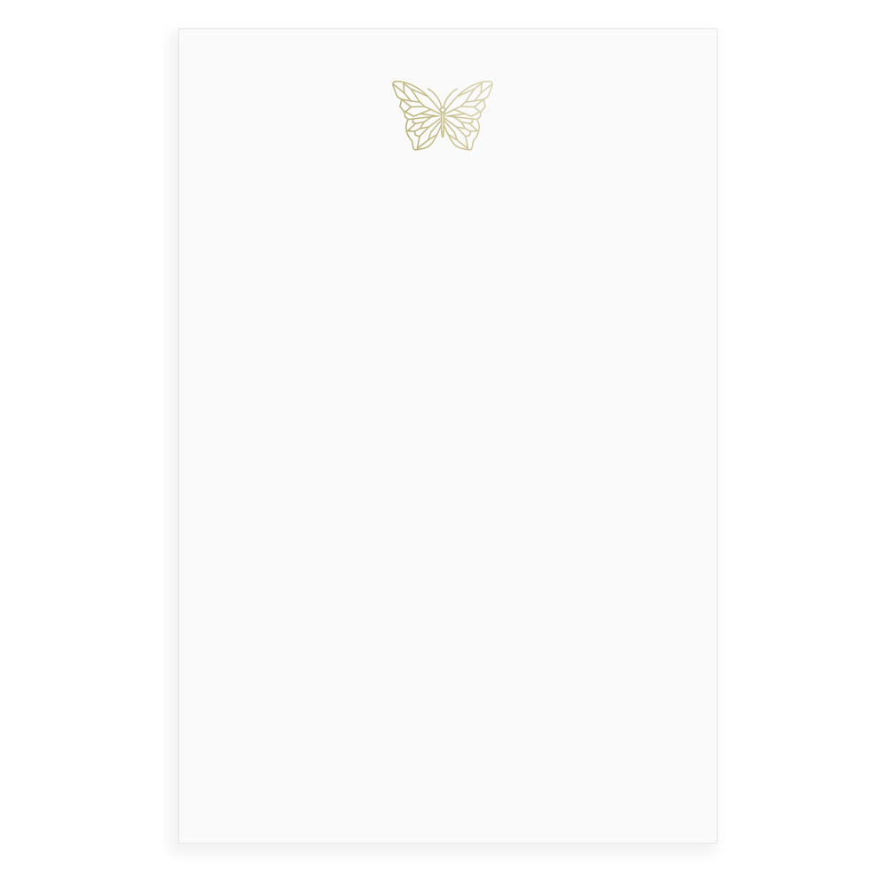 Butterfly Faceted Foil Notepad