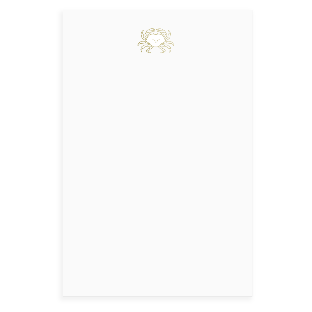Crab Faceted Foil Notepad