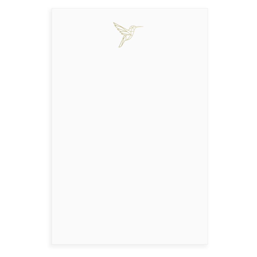 Hummingbird Faceted Foil Notepad