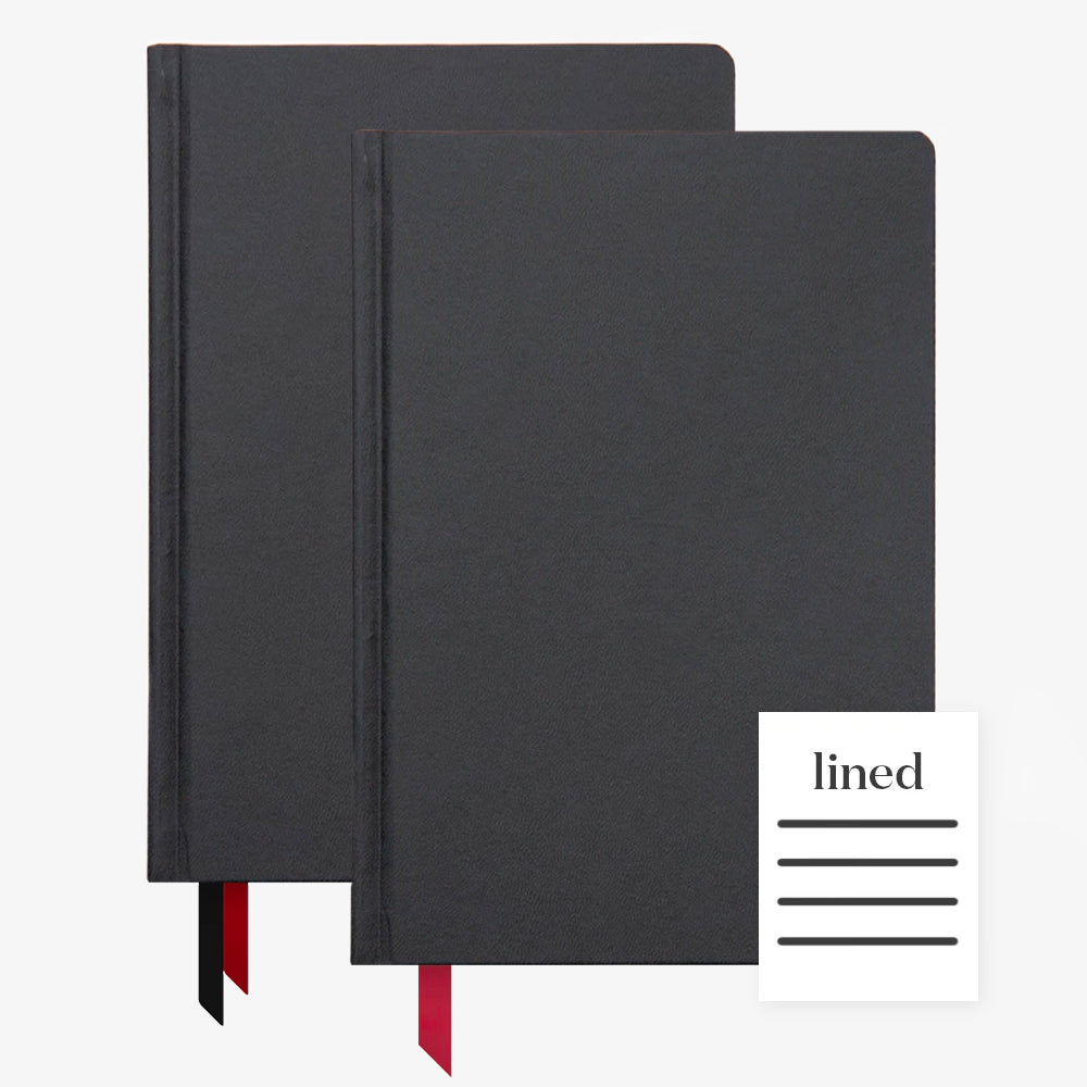 Ink+Volt 2020 black Planner & black Hardcover Notebook Lined