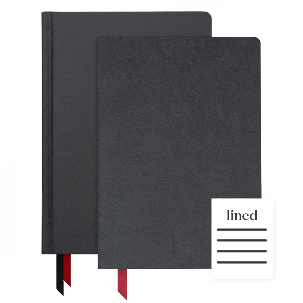 Ink+Volt 2020 Black Planner & Softcover Black Notebook Bundle Lined