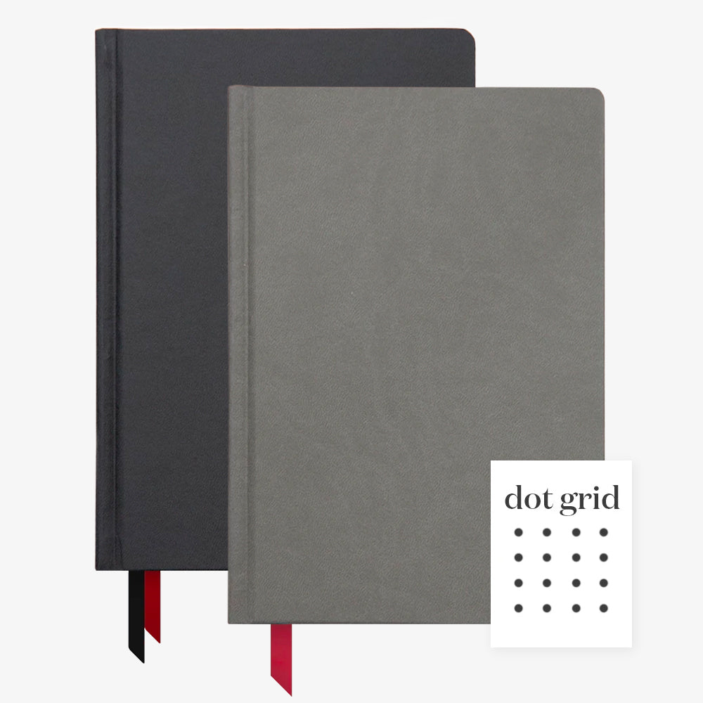 Ink+Volt 2020 Black Planner & charcoal Hardcover Notebook Dot