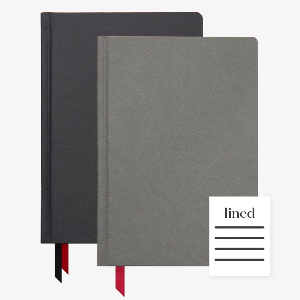 Ink+Volt 2020 Black Planner & Charcoal Hardcover Notebook Lined