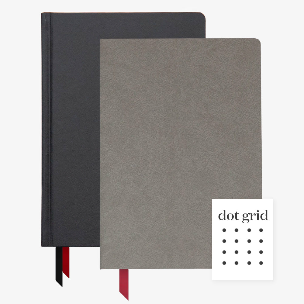 Ink+Volt 2020 Black Planner & charcoal Softcover Notebook Dot
