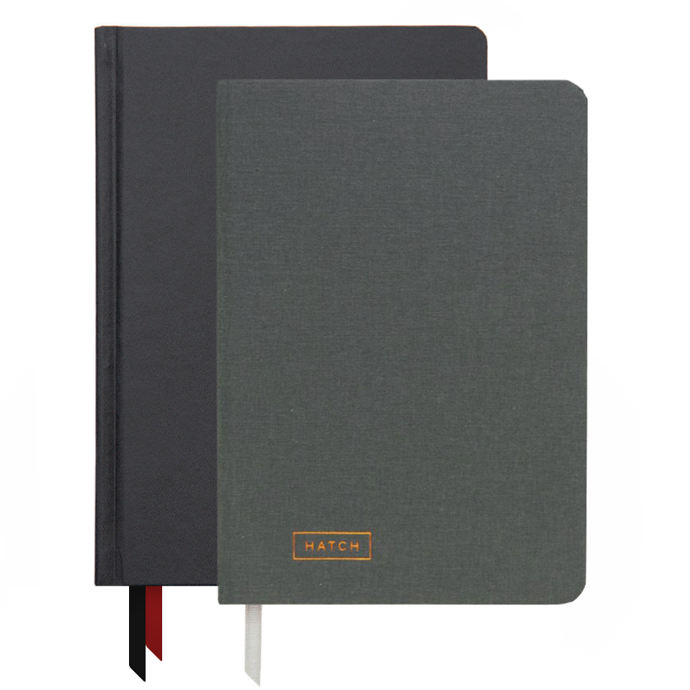 Ink+Volt 2020 black Planner & Hatch Notebook Bundle