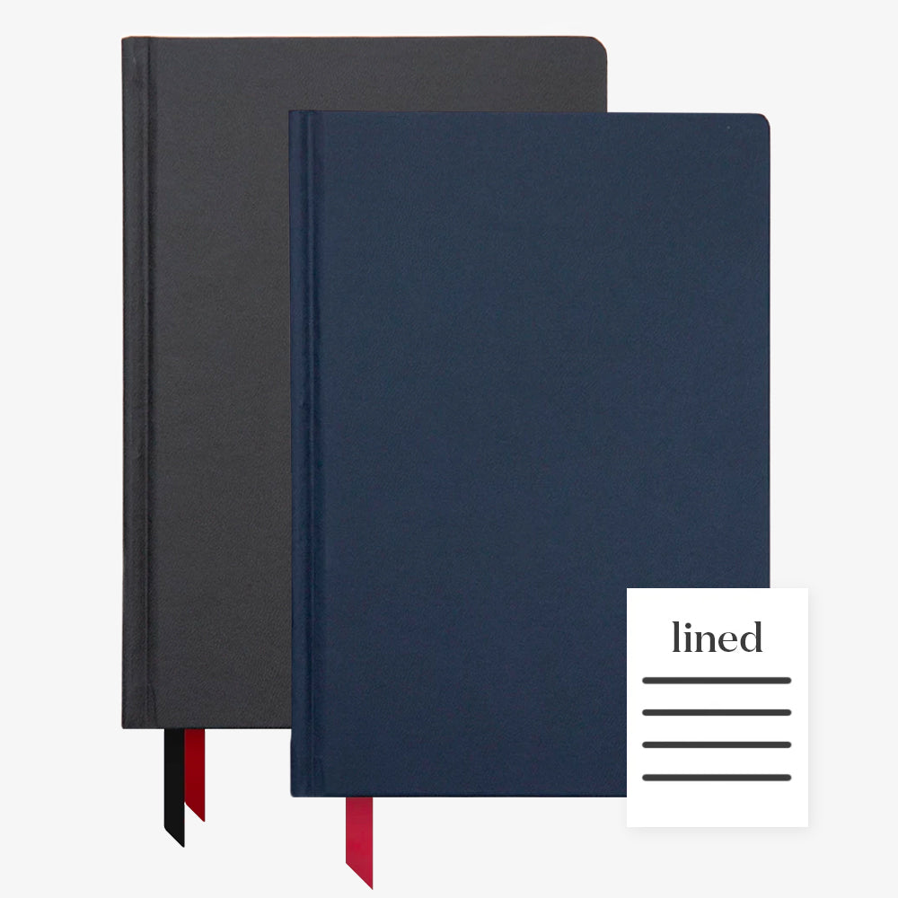 Ink+Volt 2020 Black Planner & Navy Hardcover Notebook Lined