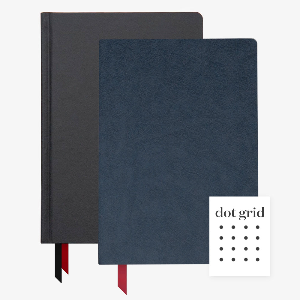 Ink+Volt 2020 Black Planner & navy Softcover Notebook Dot