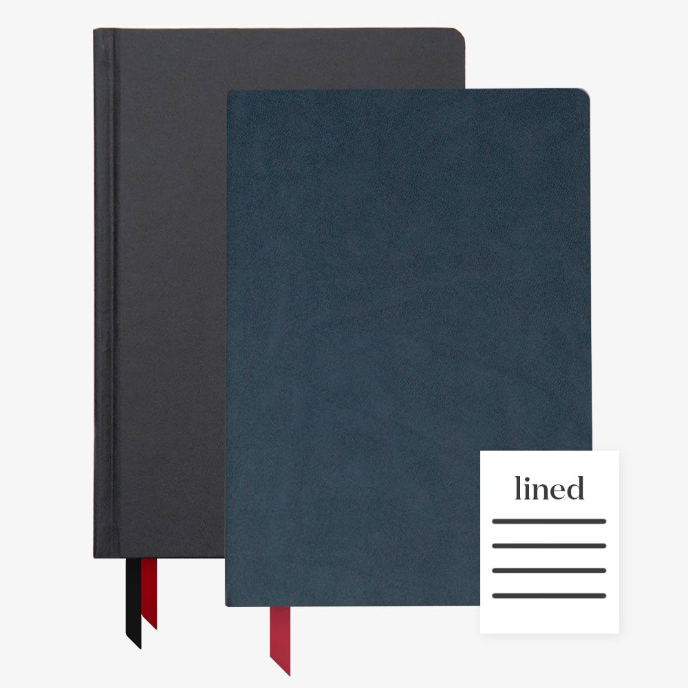 Ink+Volt 2020 Black Planner & navy Softcover Notebook lined