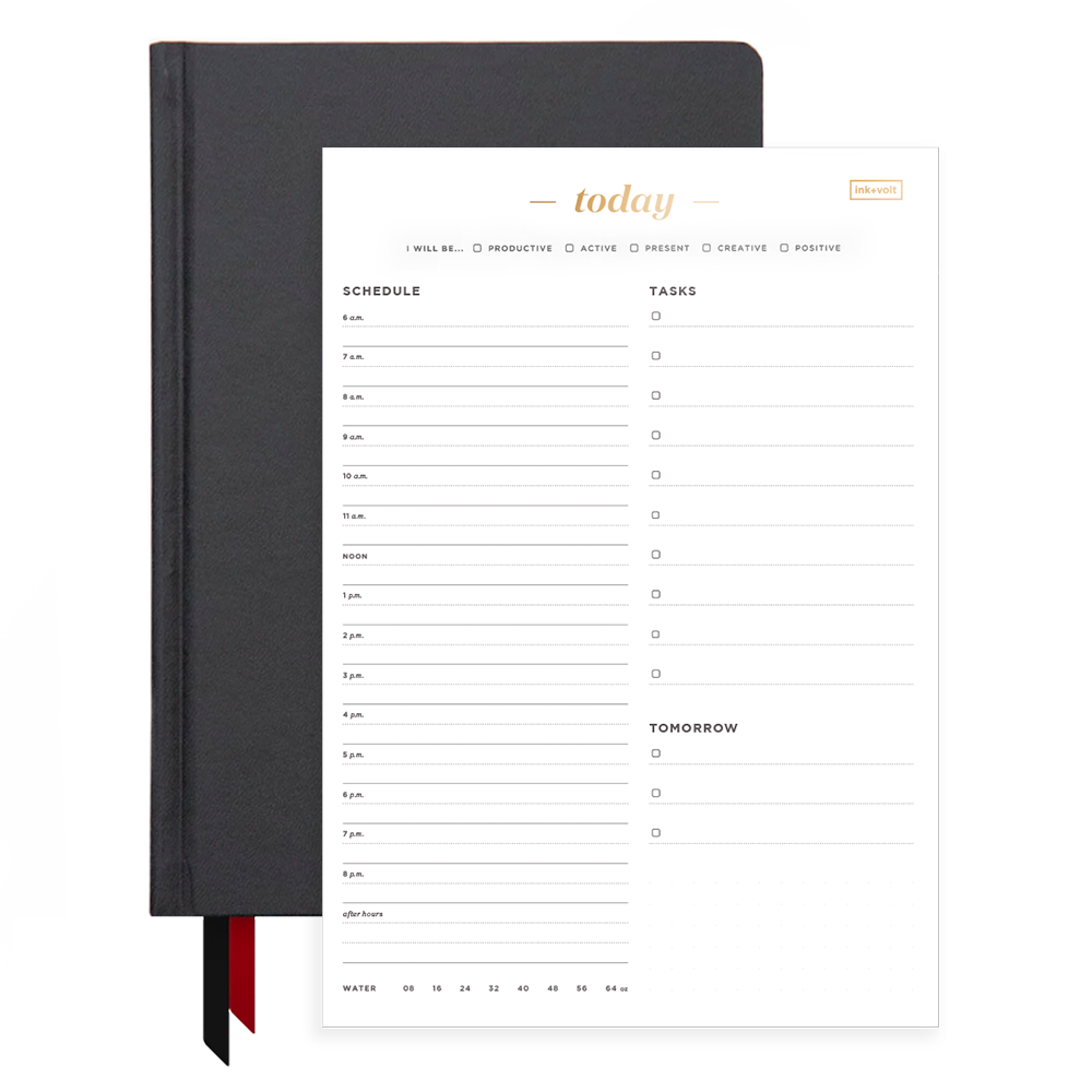 Ink+Volt Black 2020 Planner & Today Organizer Pad Bundle