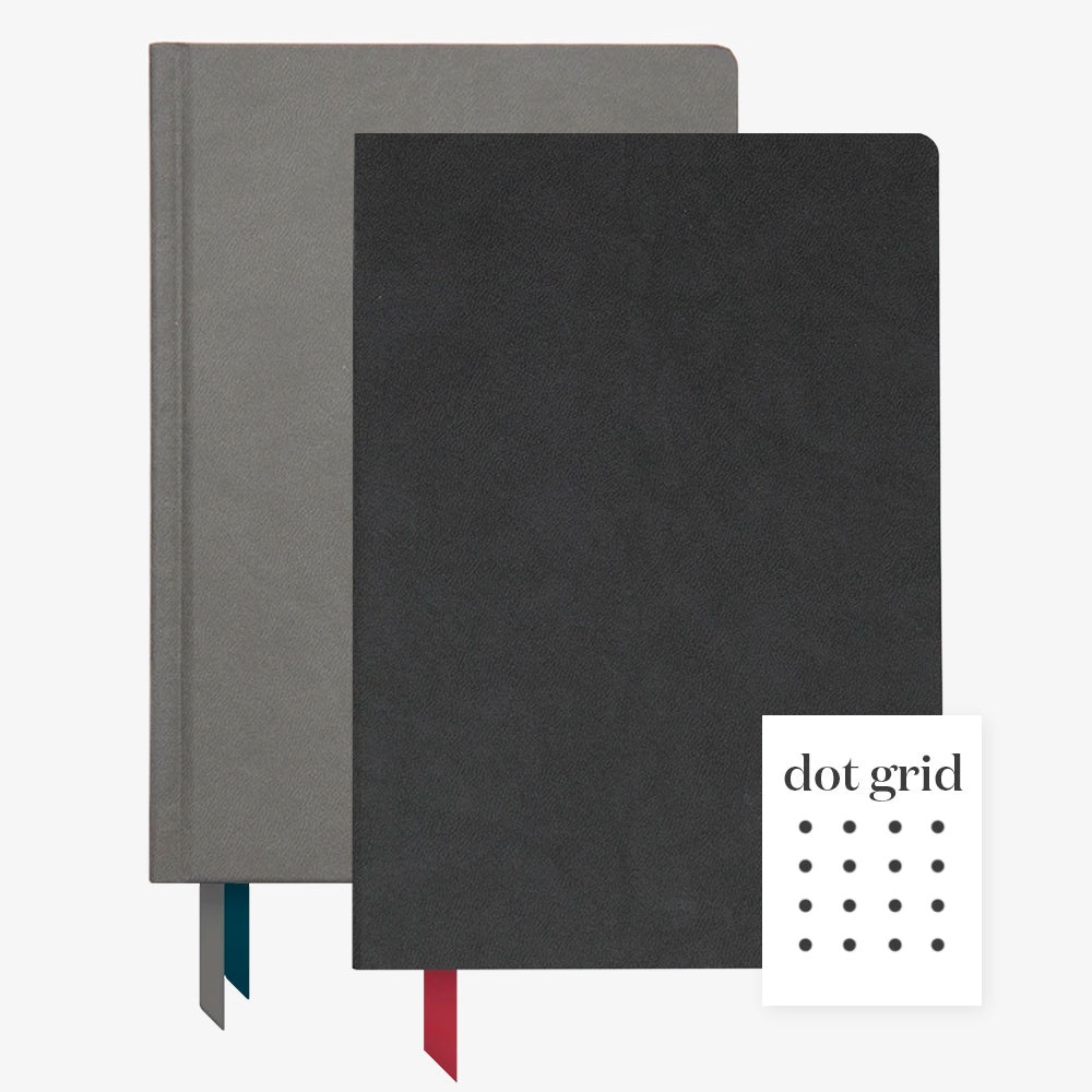 Ink+Volt 2020 charcoal Planner & Black Softcover Notebook Dot