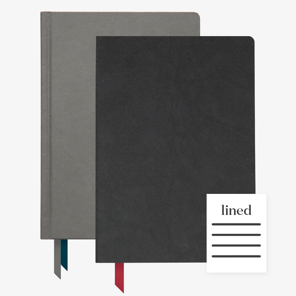 Ink+Volt 2020 Charcoal Planner & Black Softcover Notebook lined