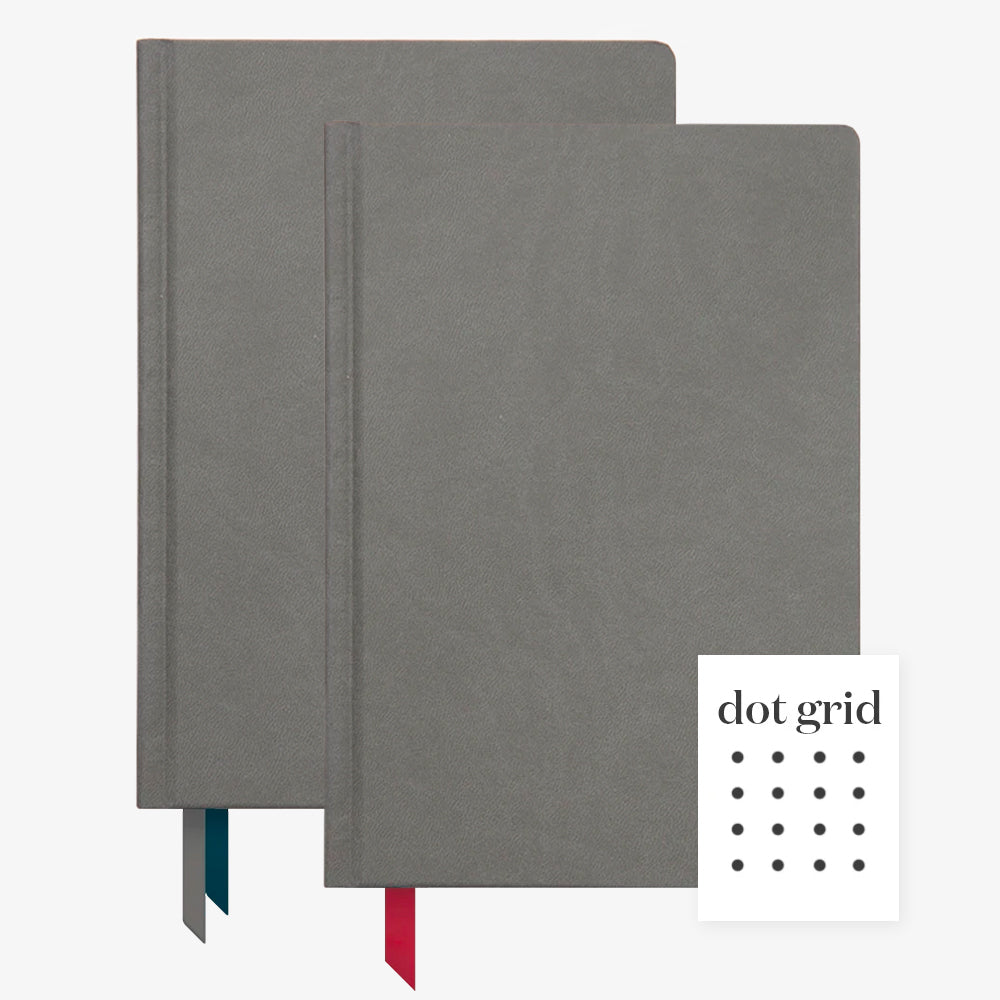Ink+Volt 2020 charcoal Planner & charcoal Hardcover Notebook Dot