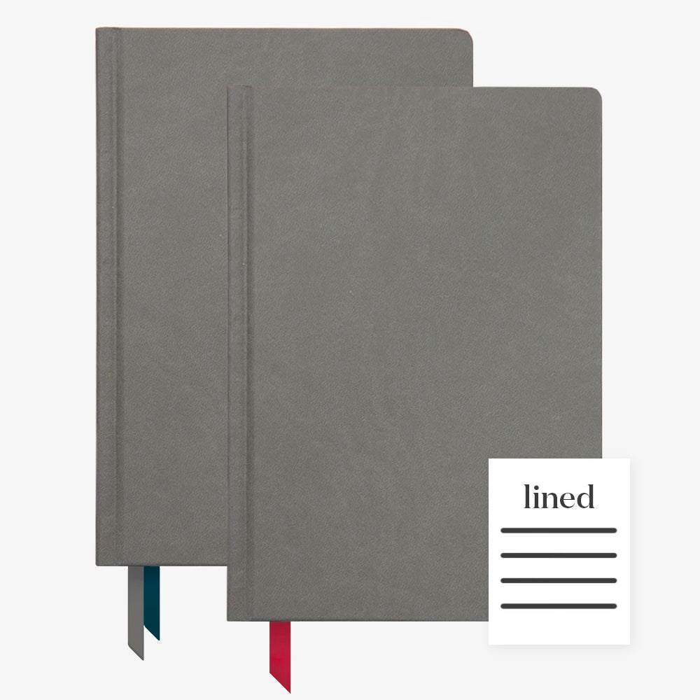 Ink+Volt 2020 Charcoal Planner & Charcoal Hardcover Notebook Lined