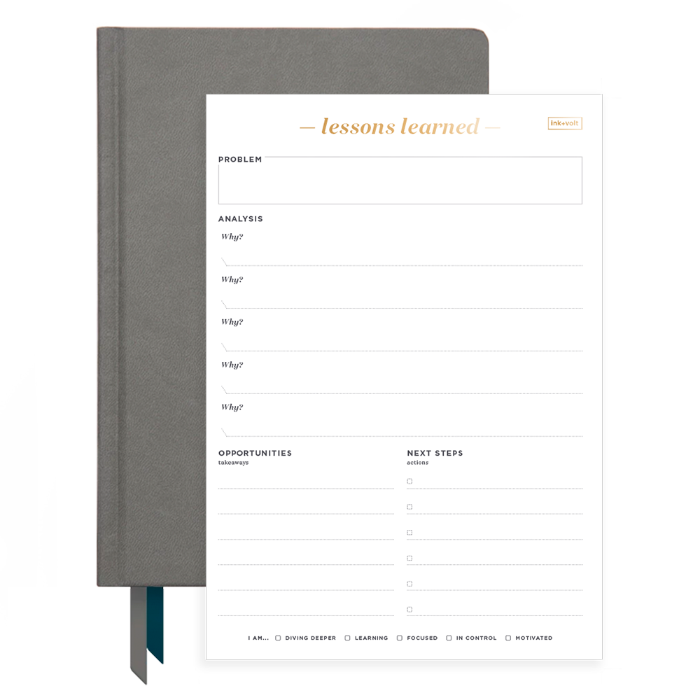 Ink+Volt 2020 Charcoal Planner & Lessons Learned Pad Bundle