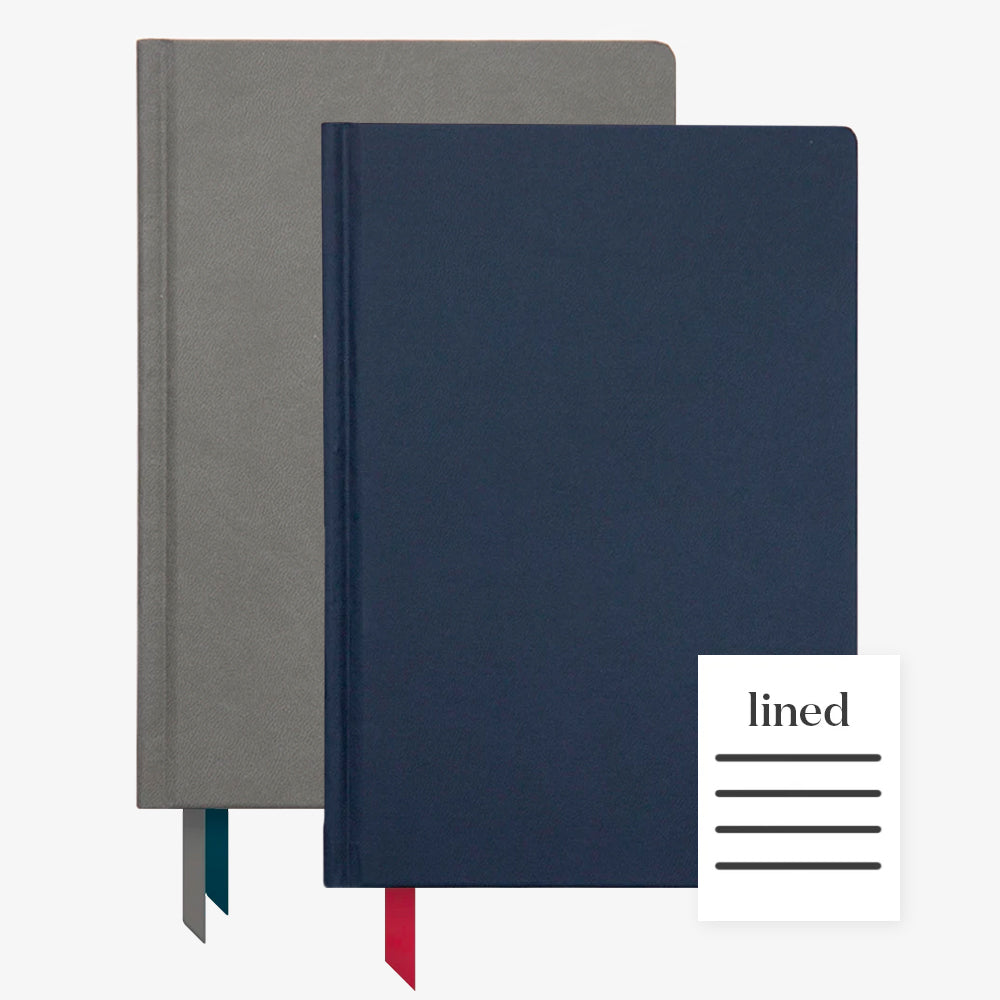 Ink+Volt 2020 Charcoal Planner & Navy Hardcover Notebook Lined