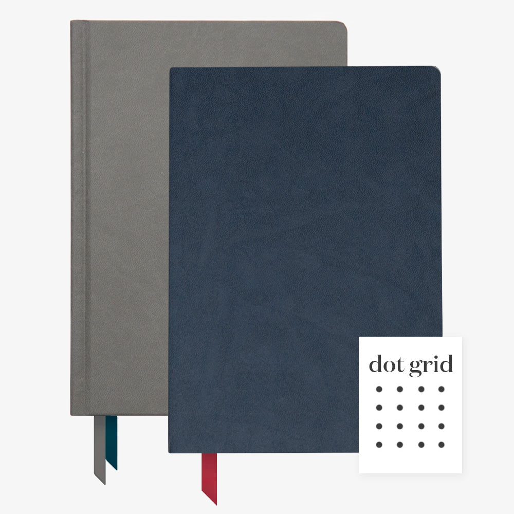 Ink+Volt 2020 Charcoal Planner & navy Softcover Notebook dot