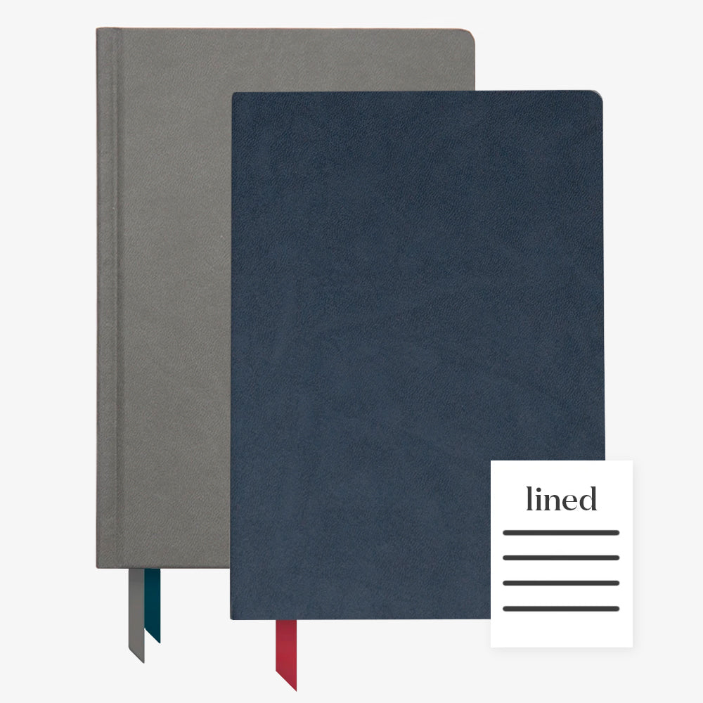 Ink+Volt 2020 Charcoal Planner & navy Softcover Notebook lined