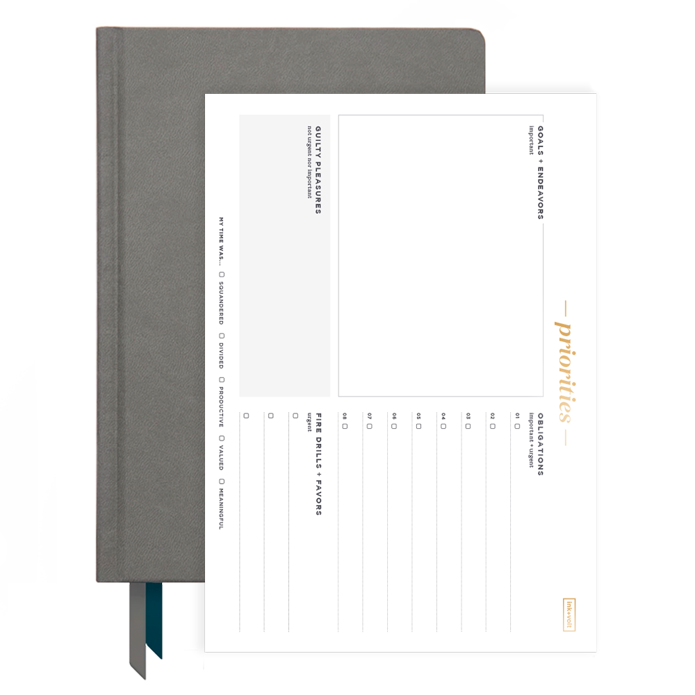 Ink+Volt 2020 Charcoal Planner & Priority Pad Bundle