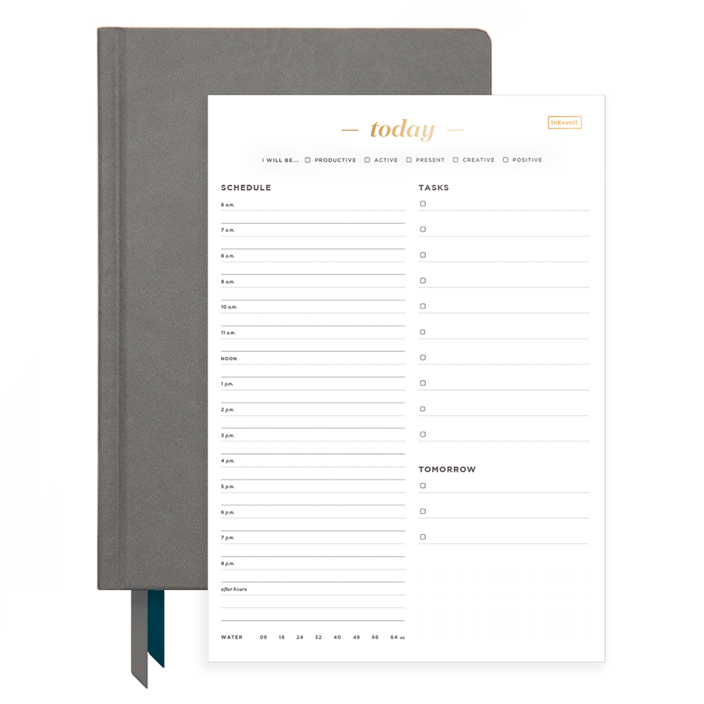 Ink+Volt Charcoal 2020 Planner & Today Organizer Pad Bundle