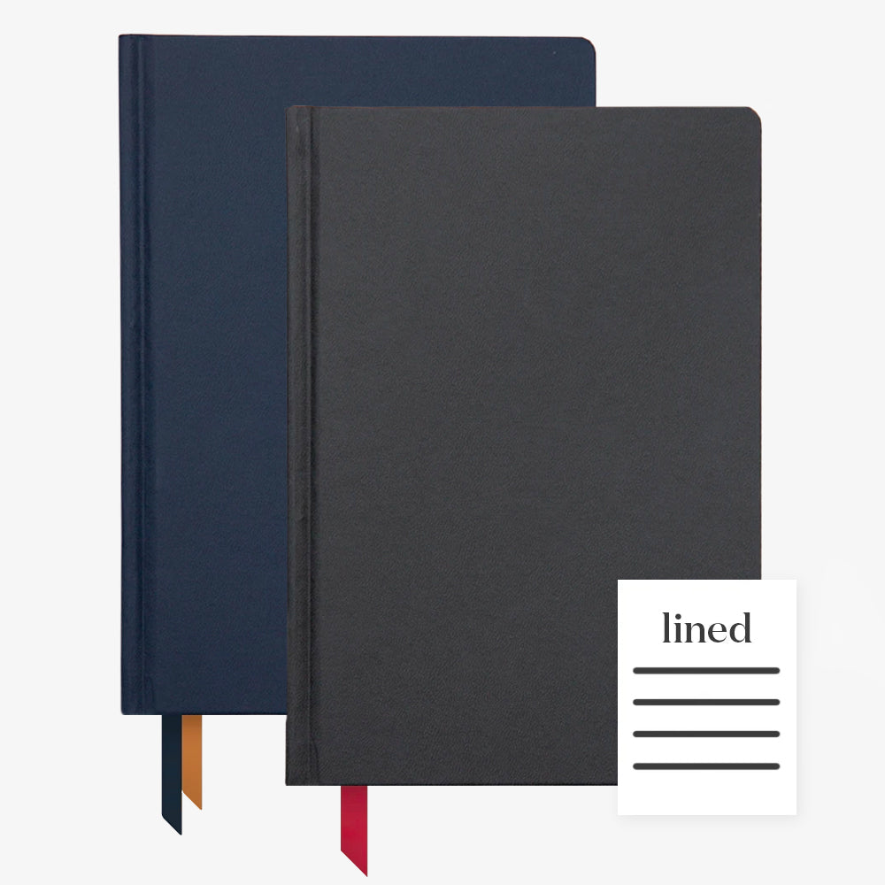 Ink+Volt 2020 Navy Planner & black Hardcover Notebook Lined