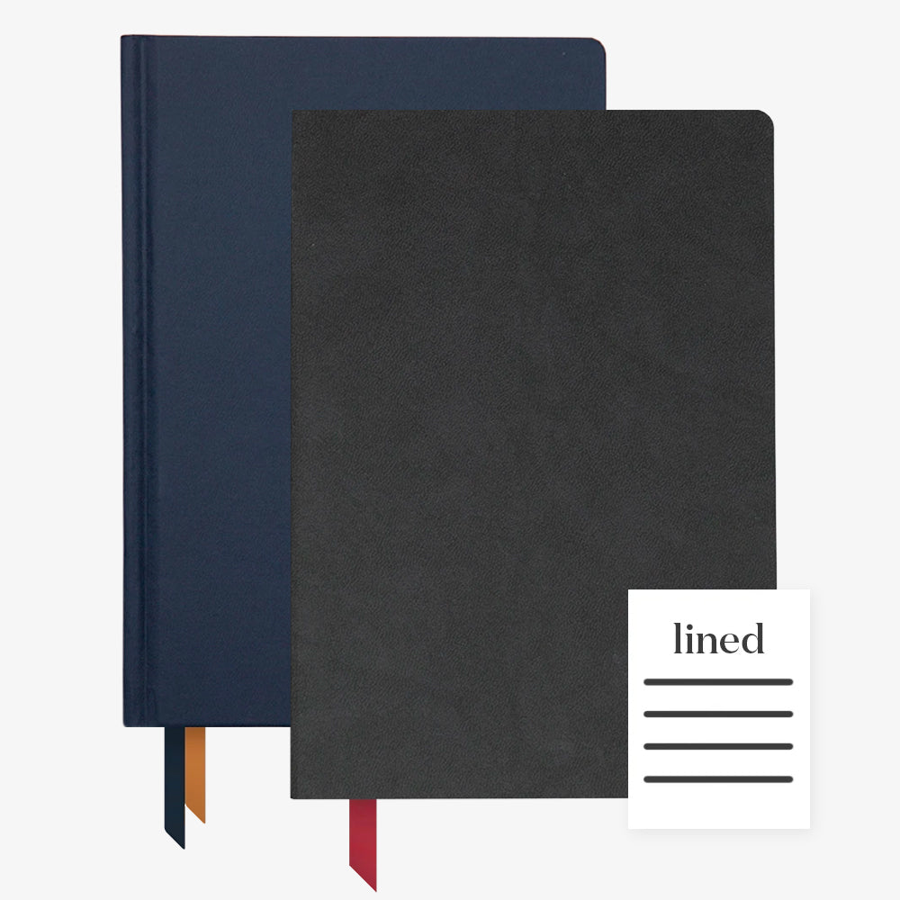 Ink+Volt 2020 Navy Planner & Black Softcover Notebook lined