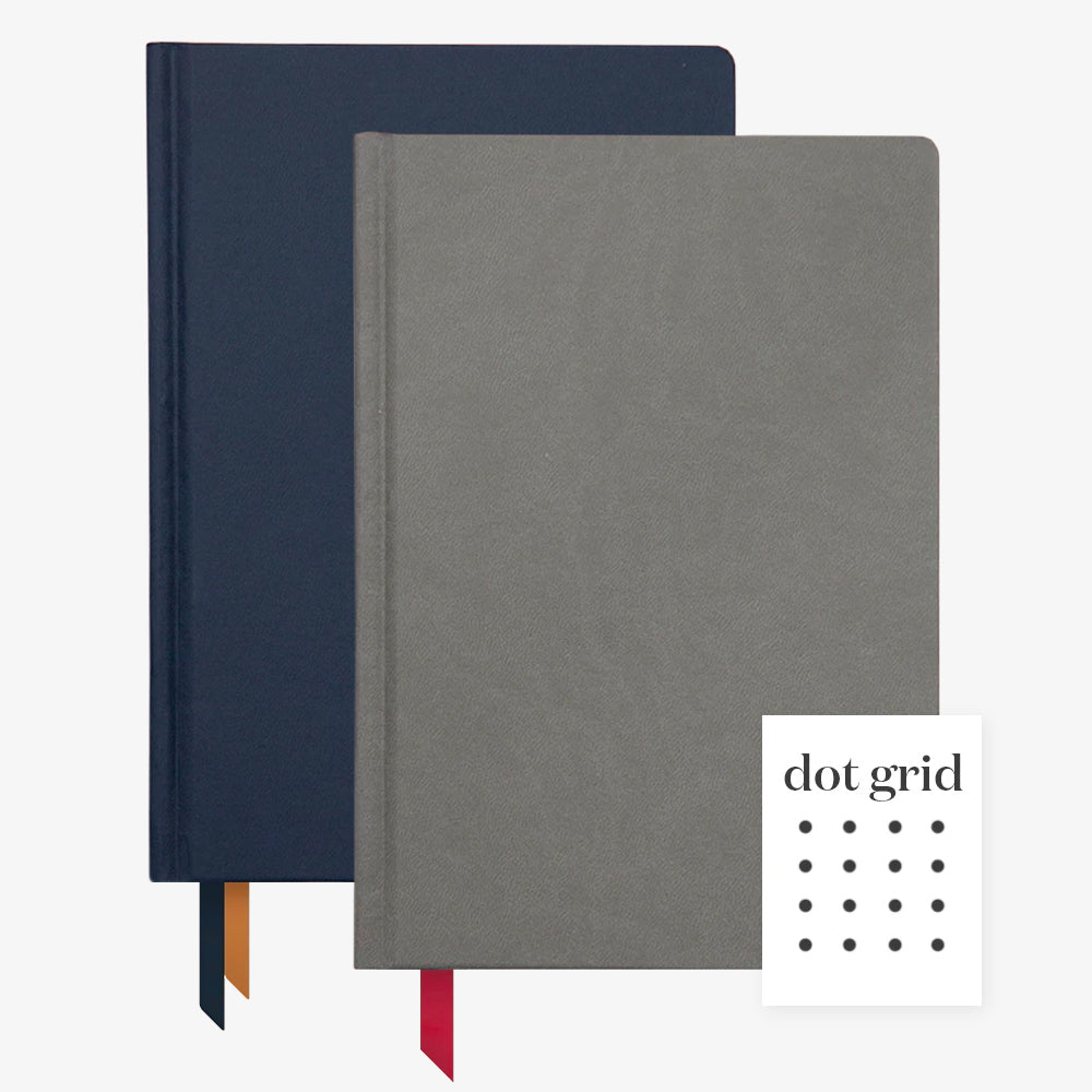 Ink+Volt 2020 navy Planner & charcoal Hardcover Notebook Dot