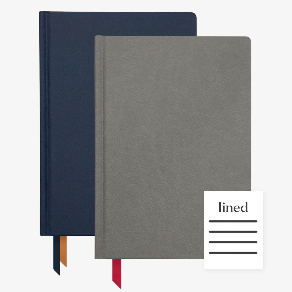 Ink+Volt 2020 Navy Planner & Charcoal Hardcover Notebook Lined