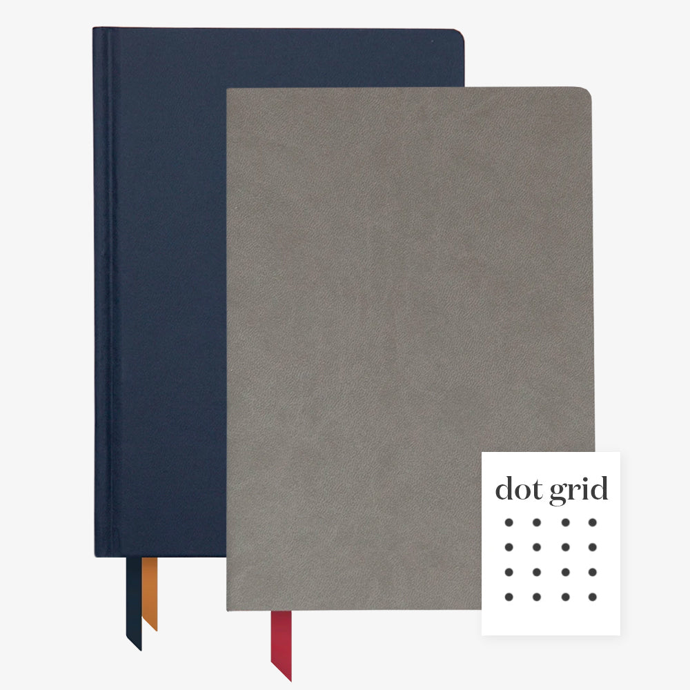 Ink+Volt 2020 Navy Planner & Charcoal Softcover Notebook dot