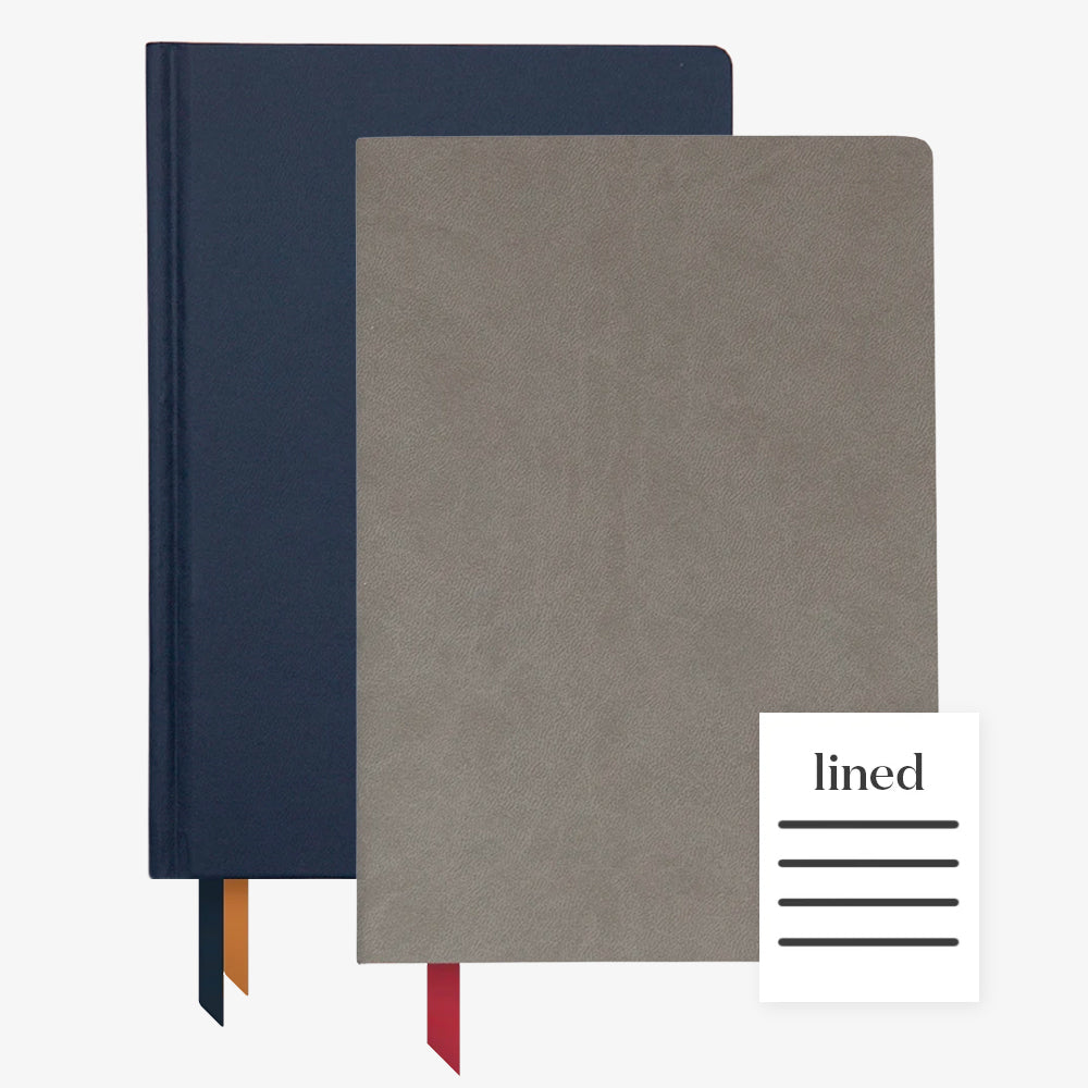 Ink+Volt 2020 Navy Planner & Charcoal Softcover Notebook lined