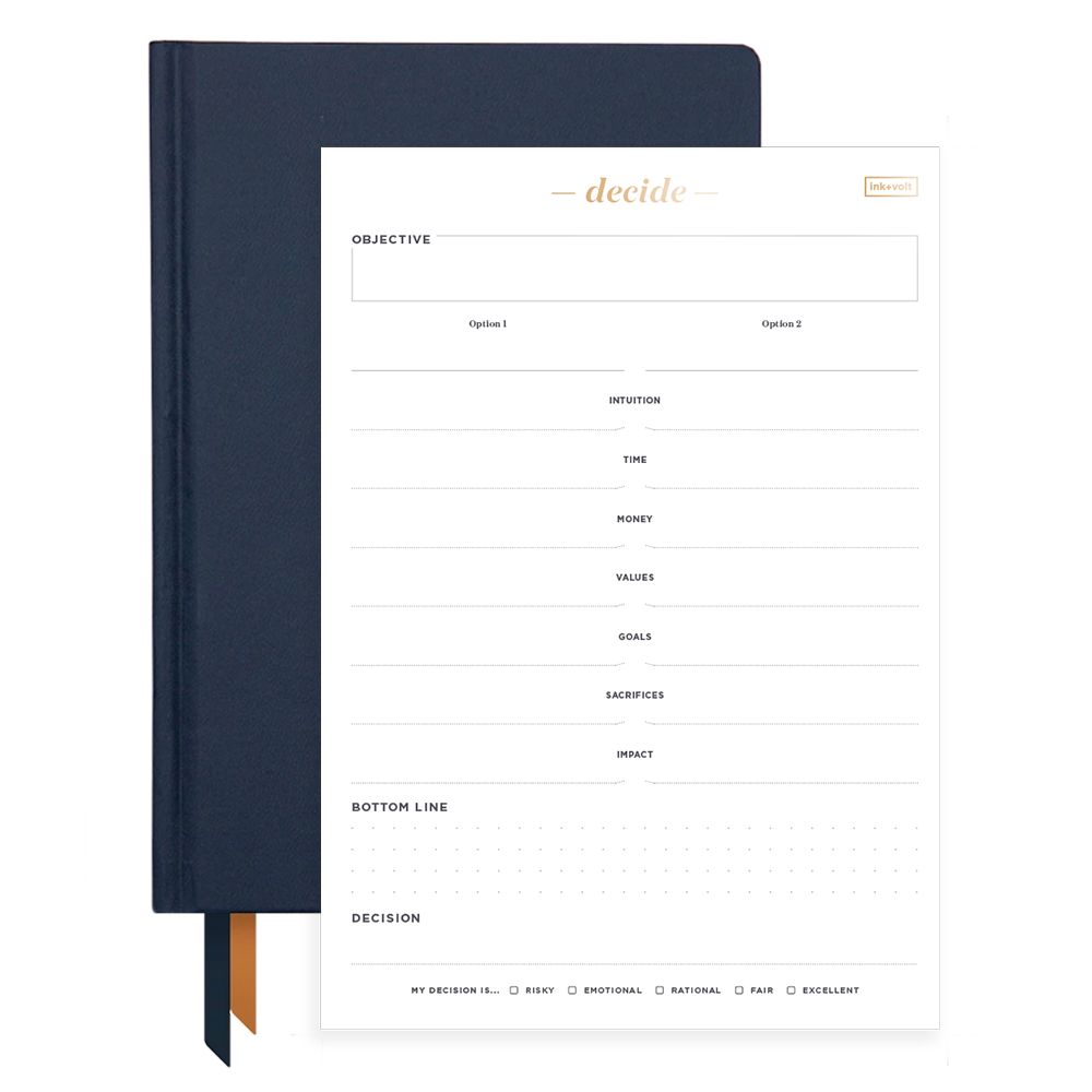 Ink+Volt 2020 Navy Planner & Decision Pad Bundle