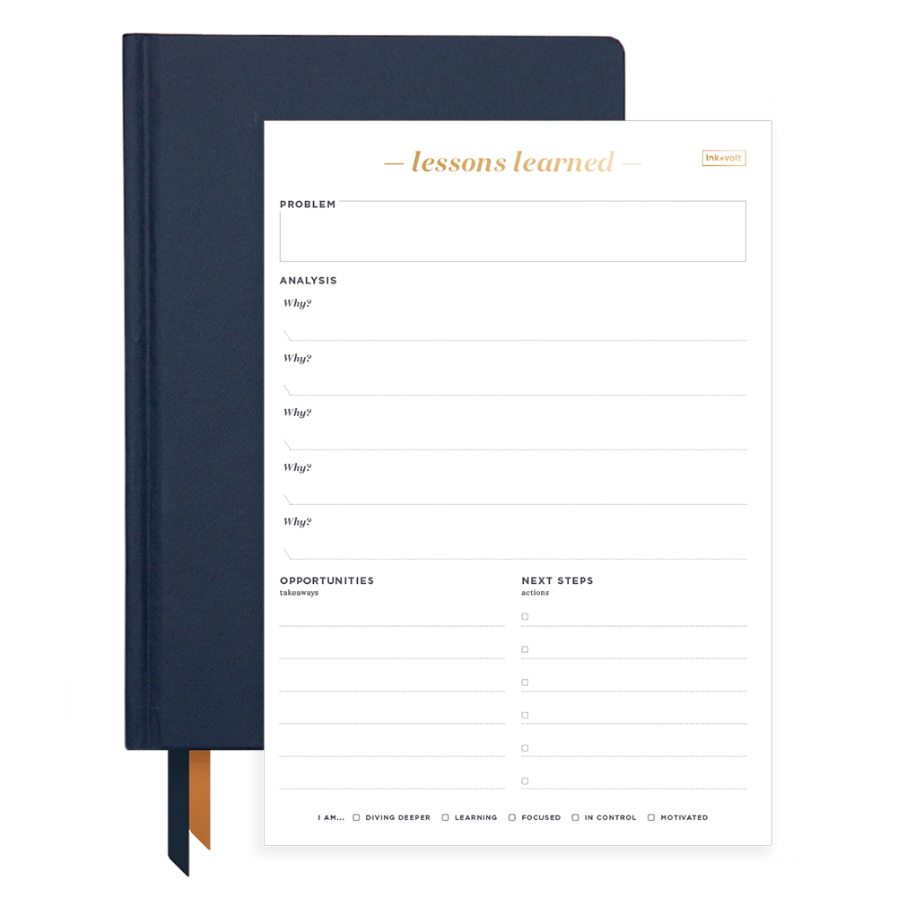 Ink+Volt 2020 Navy Planner & Lessons Learned Pad Bundle