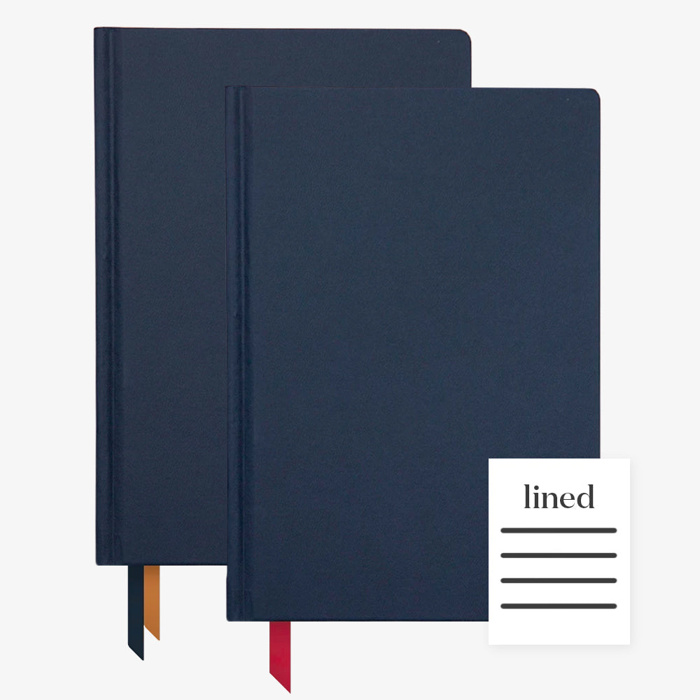 Ink+Volt 2020 Navy Planner & navy Hardcover Notebook Lined
