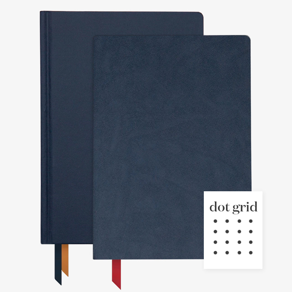 Ink+Volt 2020 Navy Planner & Navy Softcover Notebook dot