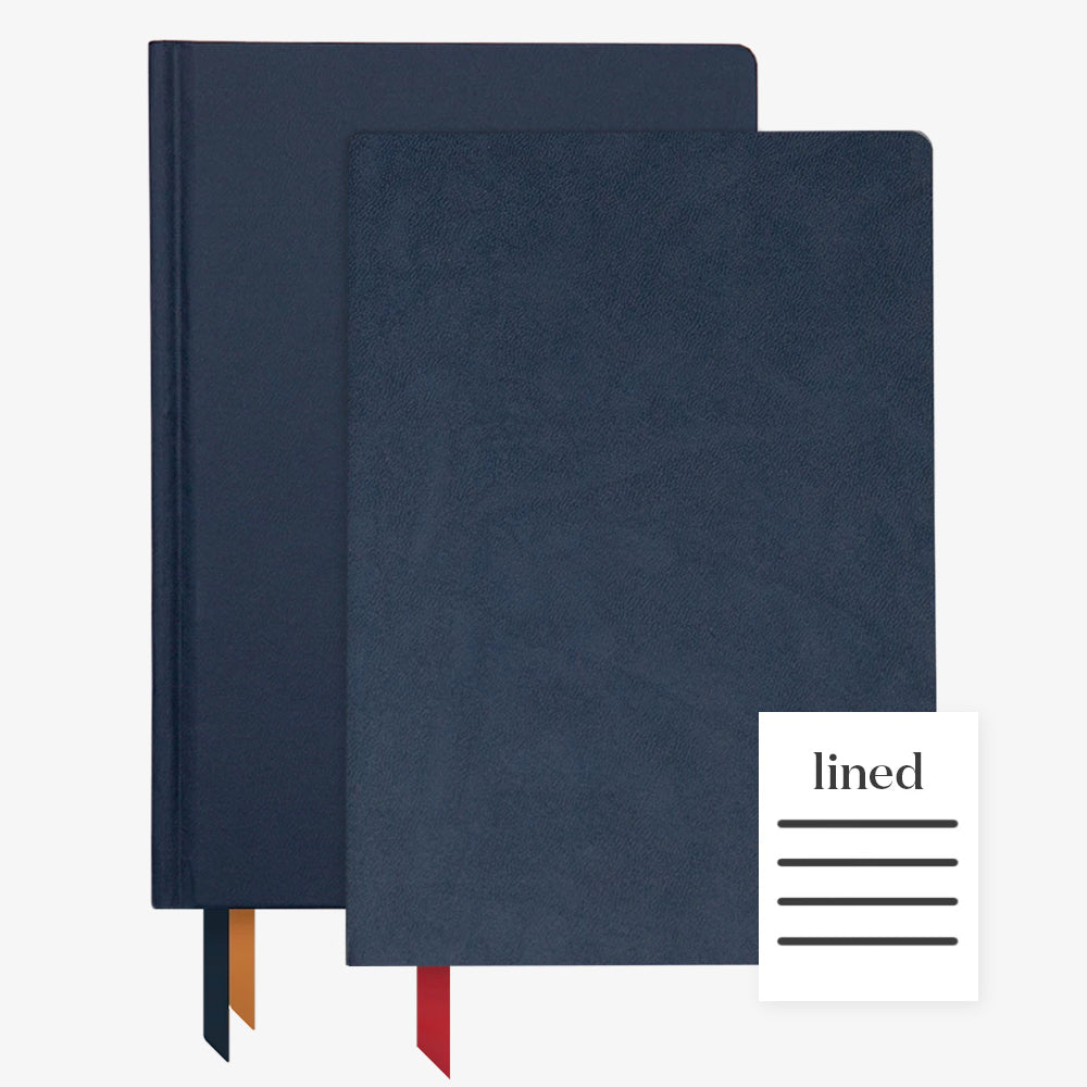Ink+Volt 2020 Navy Planner & Navy Softcover Notebook lined