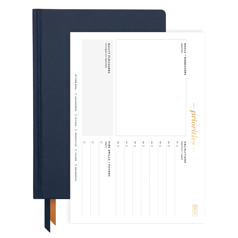 Ink+Volt 2020 Navy Planner & Priority Pad Bundle