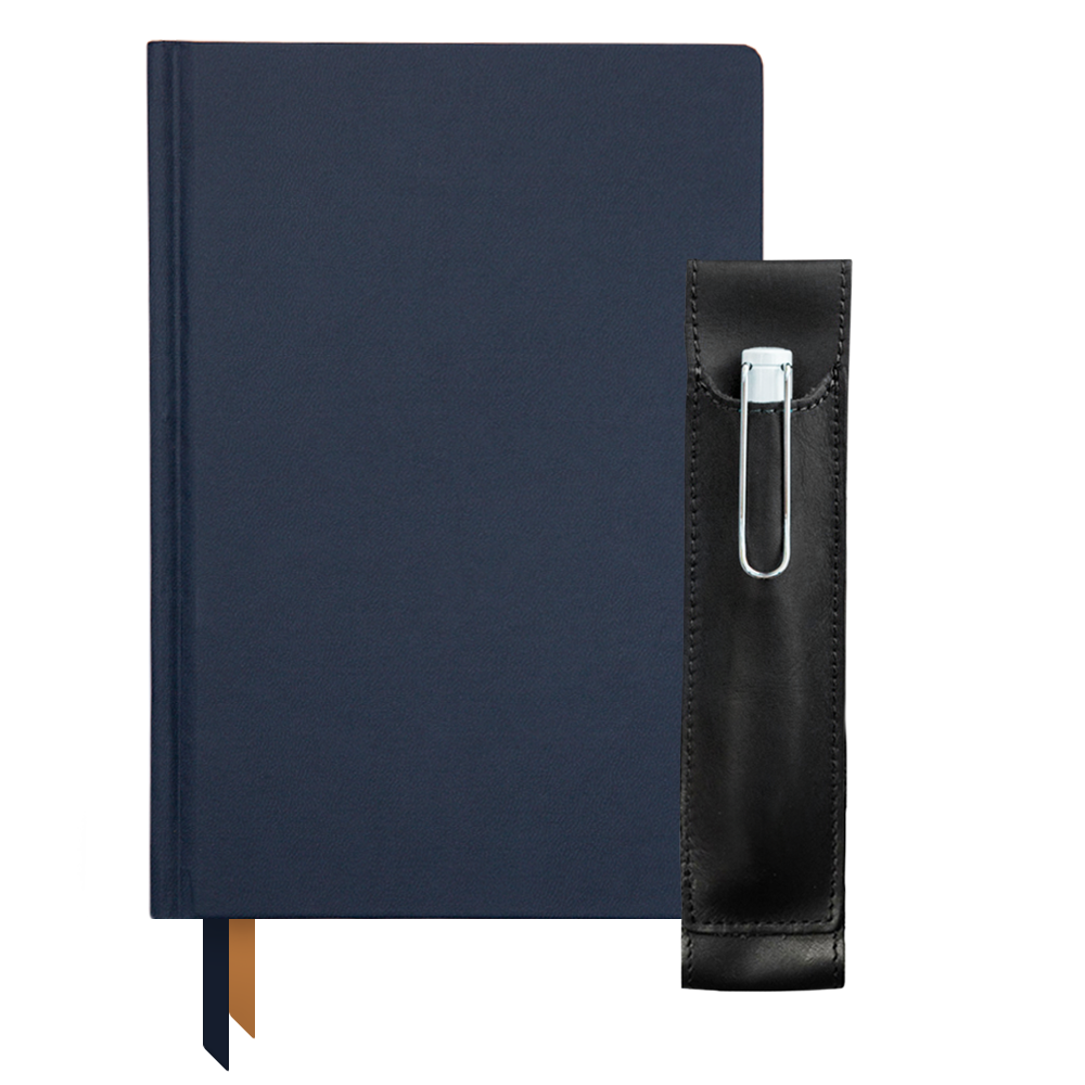 Ink+Volt 2020 navy Planner & Quiver Pen Holder Bundle