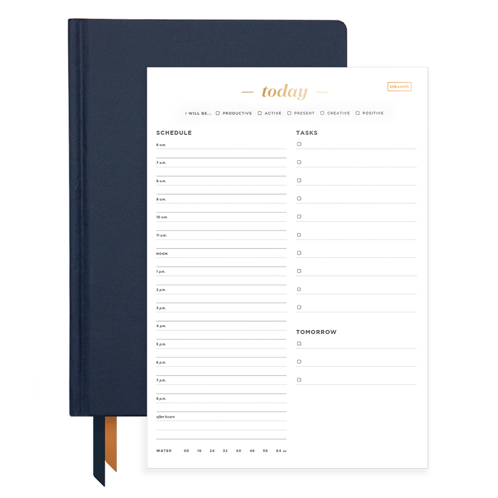Ink+Volt Navy 2020 Planner & Today Organizer Pad Bundle