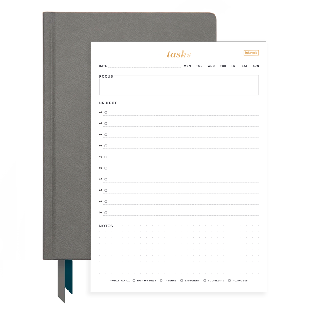 Ink+Volt 2020 Charcoal Planner & Daily Task Pad Bundle