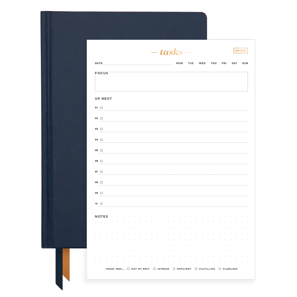 Ink+Volt 2020 Navy Planner & Daily Task Pad Bundle