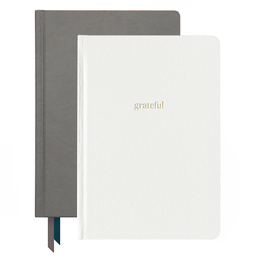 Ink+Volt 2020 Charcoal Planner & Ivory Gratitude Journal Bundle