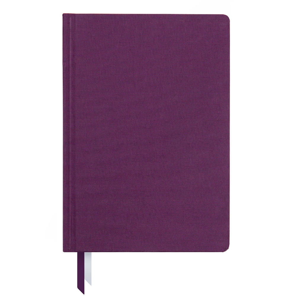 Ink and Volt 2019-2020 bookcloth cover planner plum