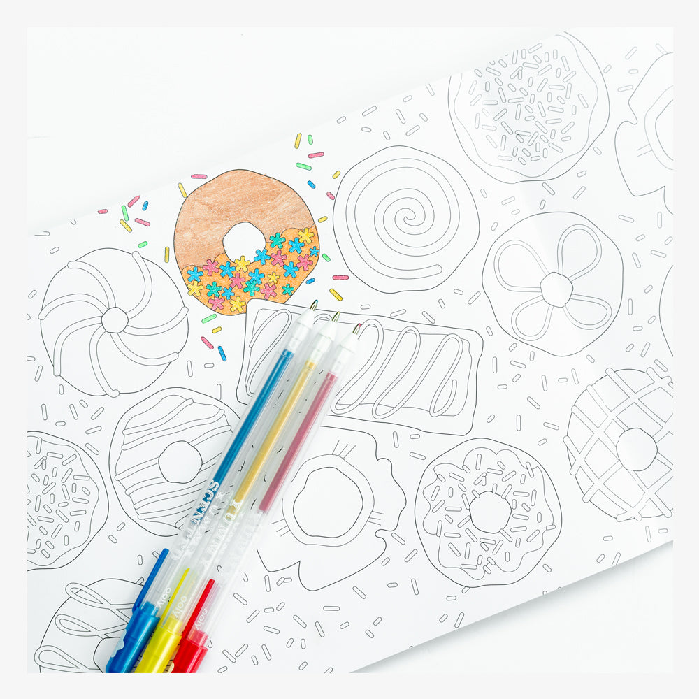 Ink+Volt Inspirational Coloring Book donuts page