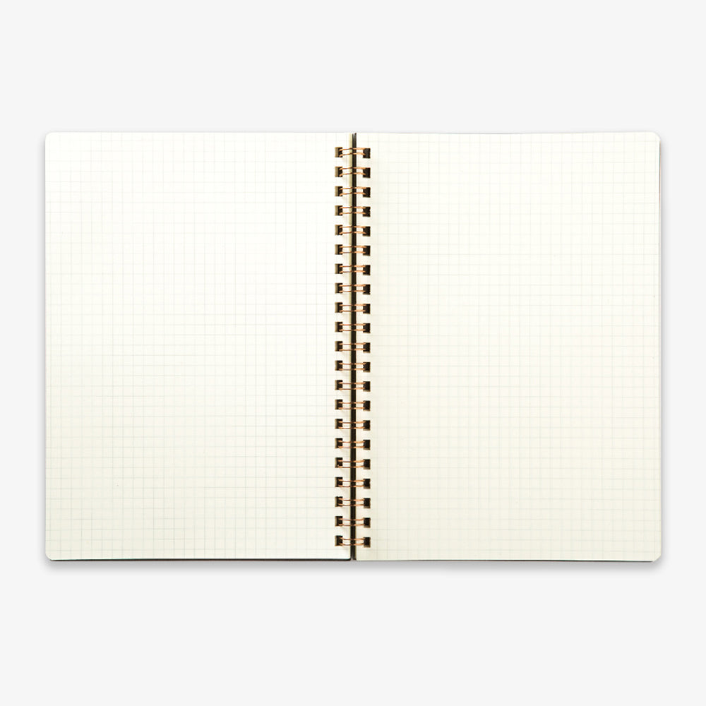 Kunisawa Find Ring Note Spiral Notebook inside pages grid