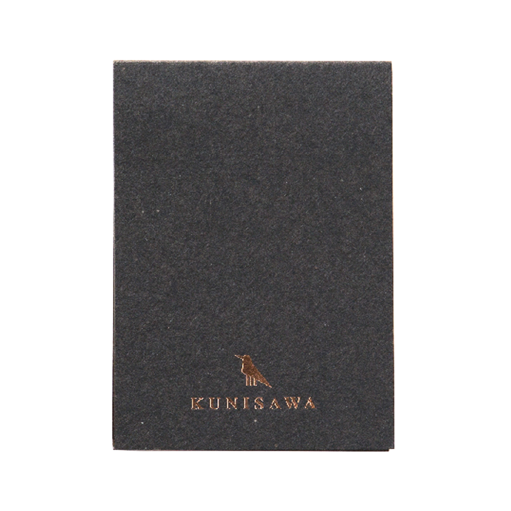 Kunisawa Find Sticky Memo Pad Charcoal