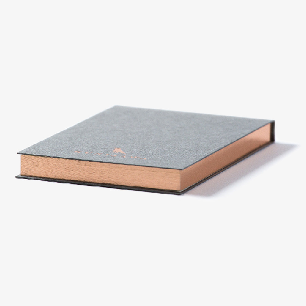Kunisawa Find Sticky Memo Pad gilt edge grey