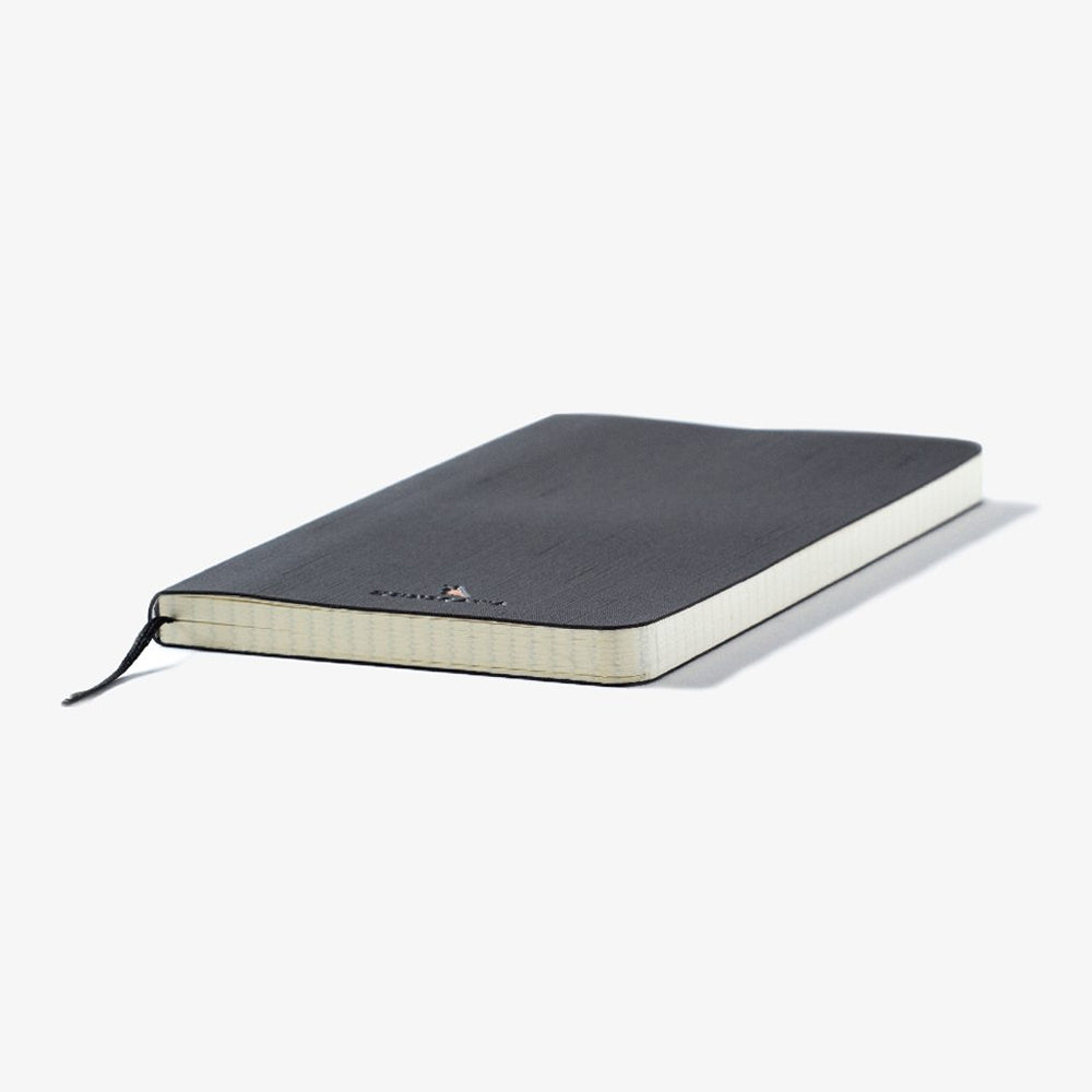 Kunisawa Find Note Softcover Notebook black cover black ribbon