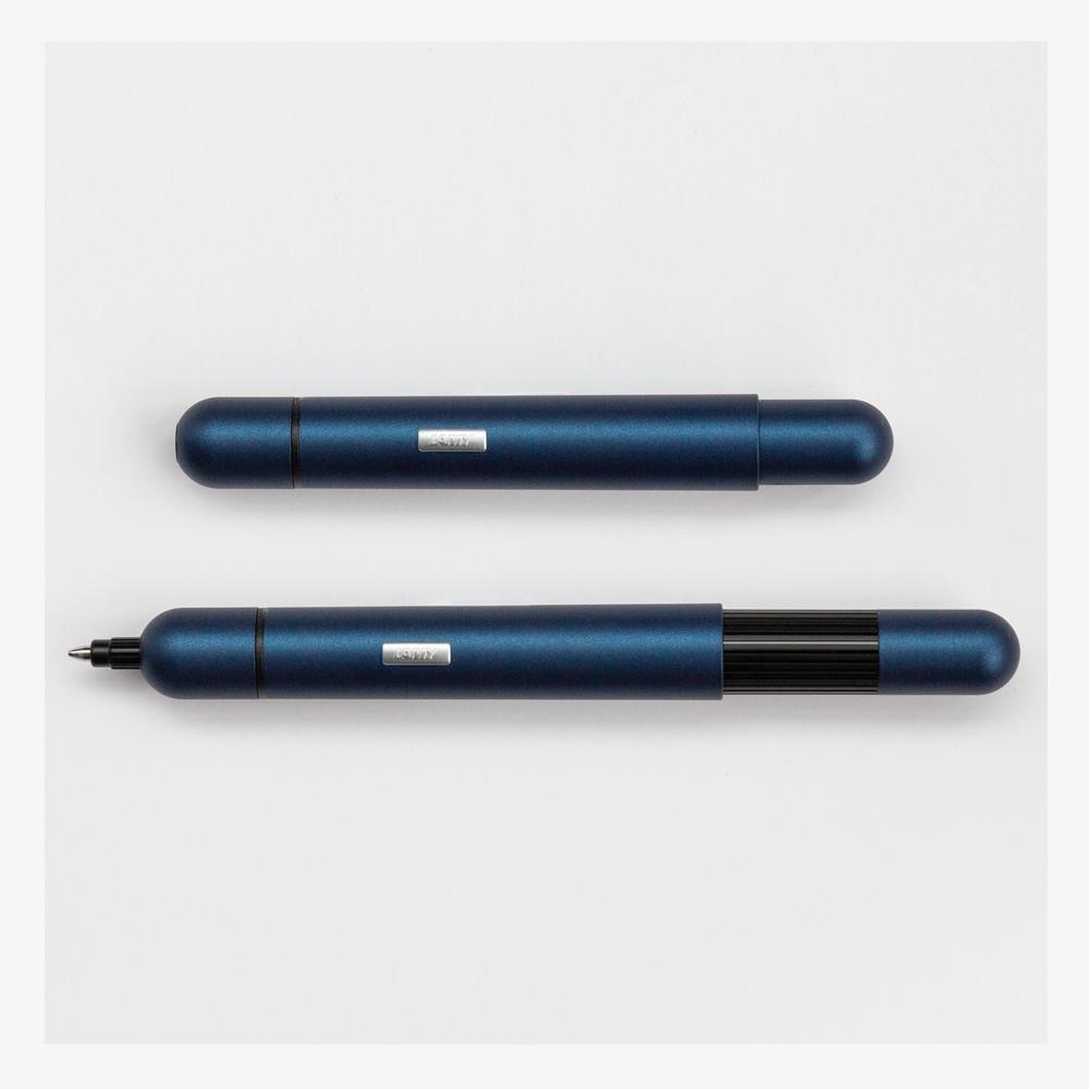 Lamy Pico Ballpoint Pen navy collapsed and extended