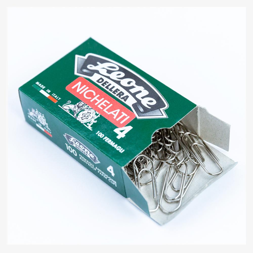 Leone Dellera Nickel-Plated Paper Clips