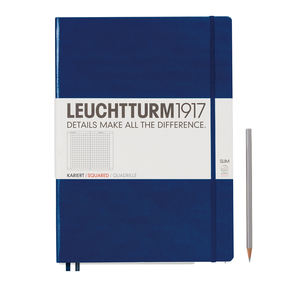 Leuchtturm1917 Master Slim Hardcover Notebook navy grid